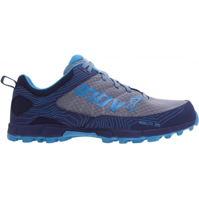 Inov8 Roclite 295 Womens STANDARD FIT Trail Running Shoes Grey/Navy/Blue