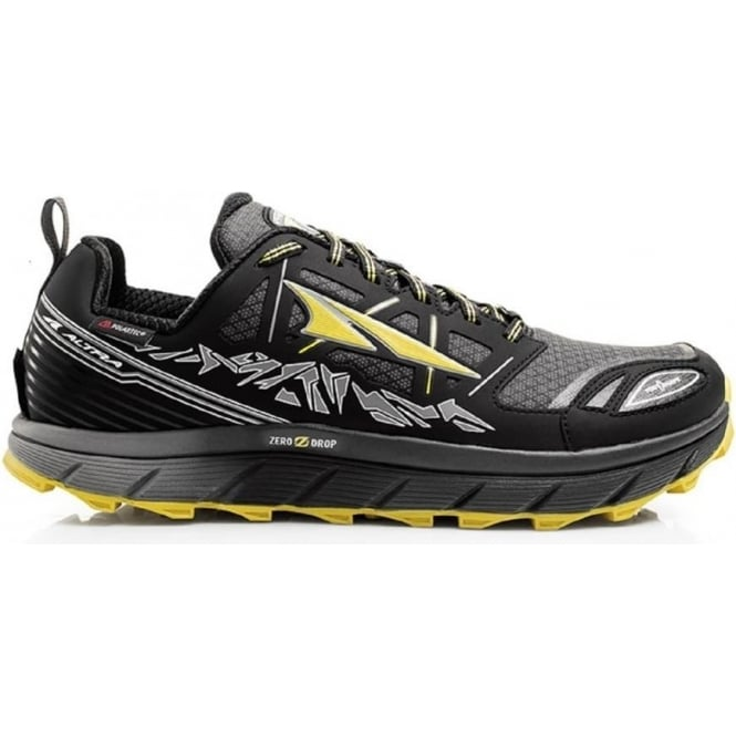Lone Peak 3.0 Neoshell Low Mens Trail Running Shoes Black/Yellow