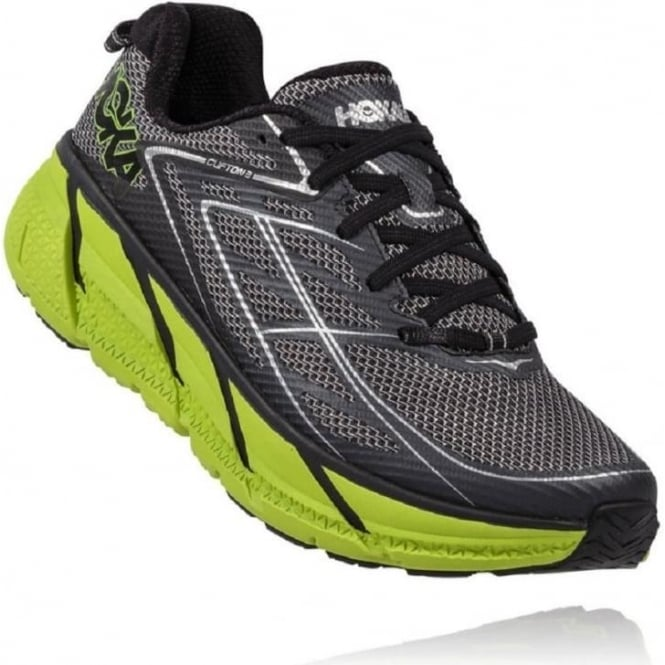 Clifton 3 Blue Graphite Grey/Brite Green Mens