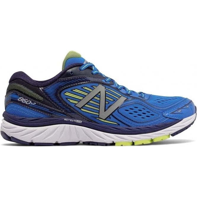 New Balance 860 V7 Blue Mens 2E WIDTH (WIDE) Road Running Shoes