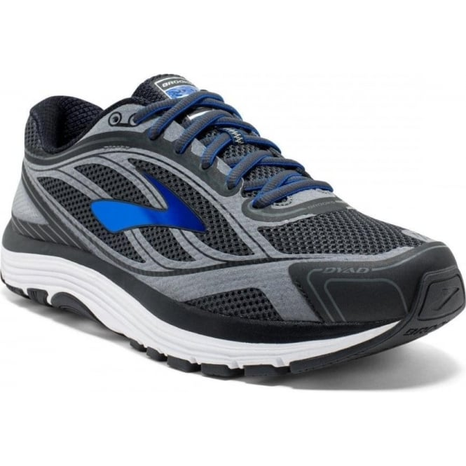 Brooks Dyad 9 Mens 2E (WIDE WIDTH) Road Running Shoes Asphalt/Electric  Blue/Black