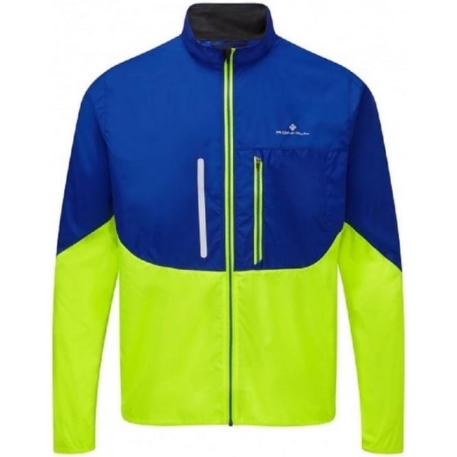 Ronhill Windlite Mens Running Jacket Cobalt/Fluo Yellow