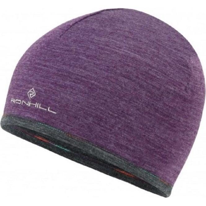 Ronhill Merino 200 Hat Eldberberry/Grey Marl