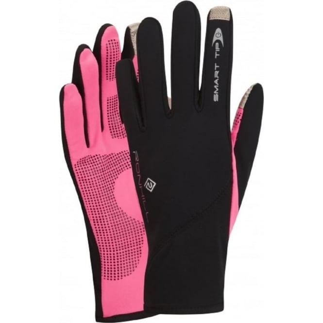 Ronhill Sirocco Glove Black/Fluo Pink