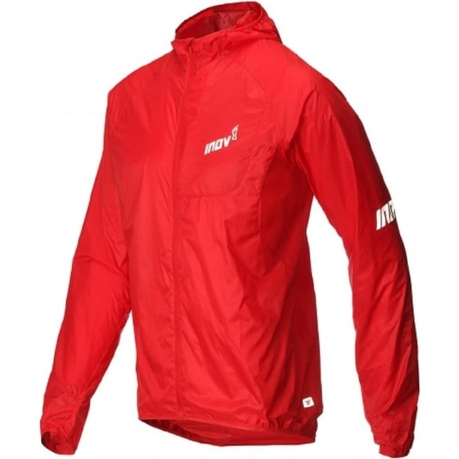 Inov8 AT/C Windshell Full Zip Mens Running Jacket Red