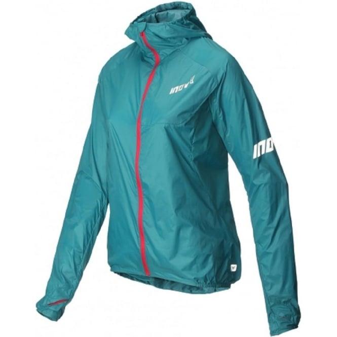 Inov8 AT/C Windshell Womens Full Zip Running Jacket Teal/Pink