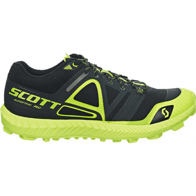 Scott Supertrac RC Off-Road Running Shoes - Black/Yellow Womens