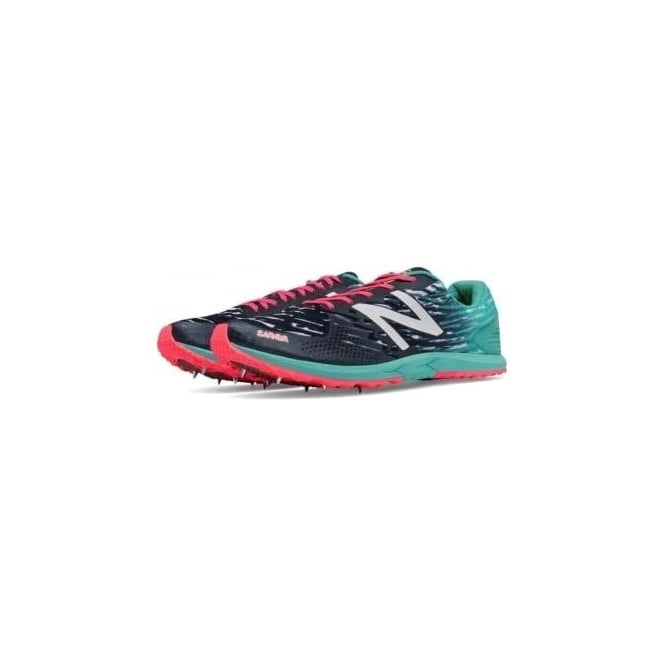 New Balance 900 V3 Cross Country Spikes Black/Blue Womens