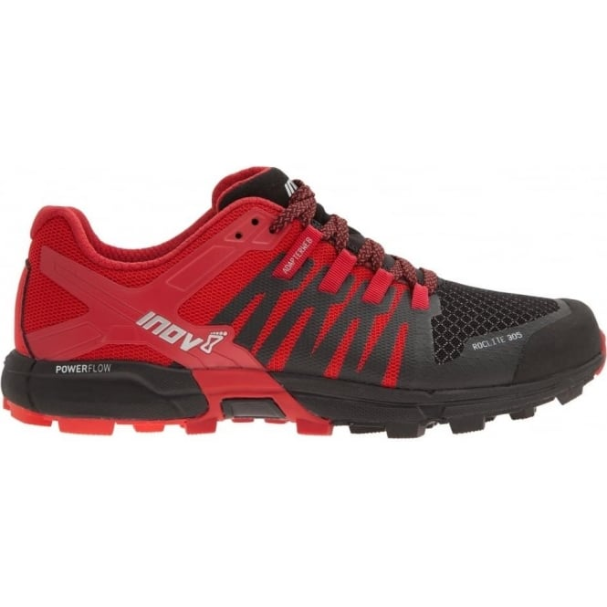 Inov8 Roclite 305 Mens STANDARD FIT Trail Running Shoes Red/Black