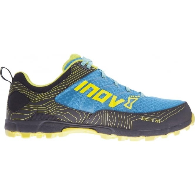 Inov8 Roclite 295 Mens Trail Running Shoes Blue/Black/Lime