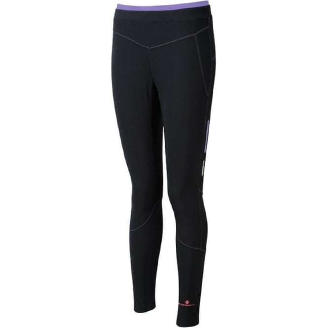 Winter Tights Womens Black/Lilac/Fluo Pink