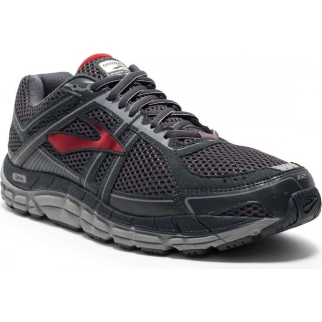 Brooks Addiction 12 Anthracite/Red/Silver 2E WIDTH - WIDE Mens