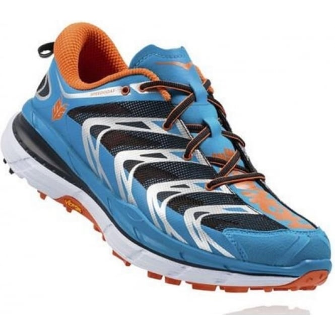 Hoka Speedgoat Blue/Red Orange Mens