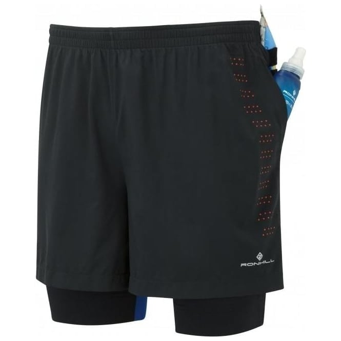 Ronhill Men's Infinity Fuel Twin Short Black/Flame