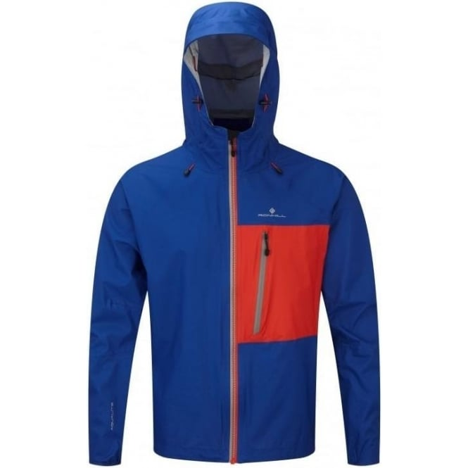 Ronhill Men's Infinity Torrent Running Jacket Cobalt Blue/Flame Red