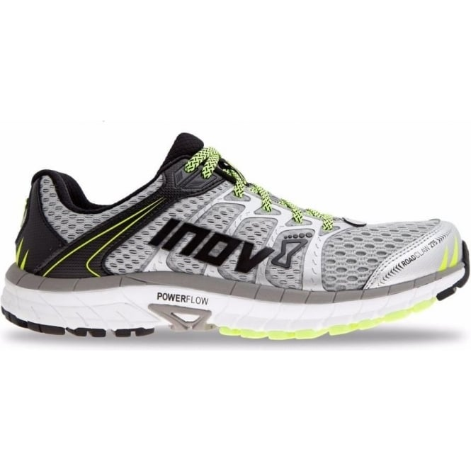 Roadclaw 275 Mens Road Running Shoes Silver/Grey/Neon Yellow