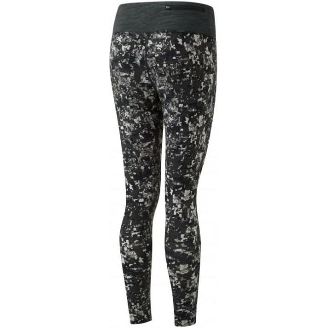 Momentum Running Tights Womens Grey Mosaic Print