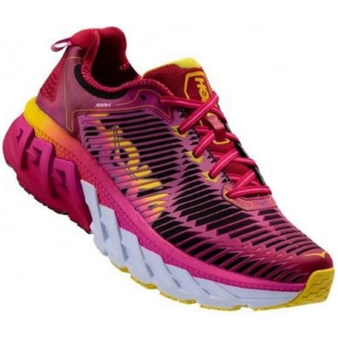 Hoka Arahi Road Running Shoes Pink Womens