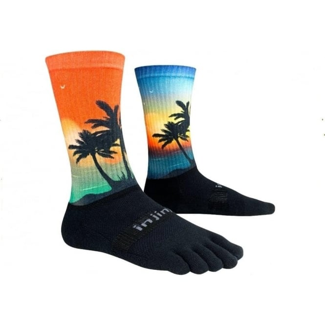 Trail Midweight Crew Coastal Running Toe Socks