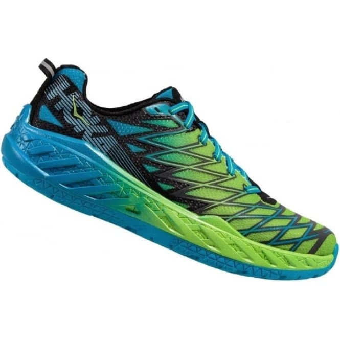 Hoka Clayton 2 Road Running Shoes Green/Blue Mens