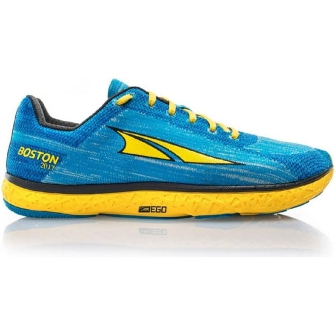 Altra Escalante Boston Womens Zero Drop Road Running Shoe Blue/Yellow