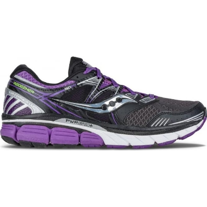 Saucony Redeemer ISO Road Running Shoes Black/Purple Womens