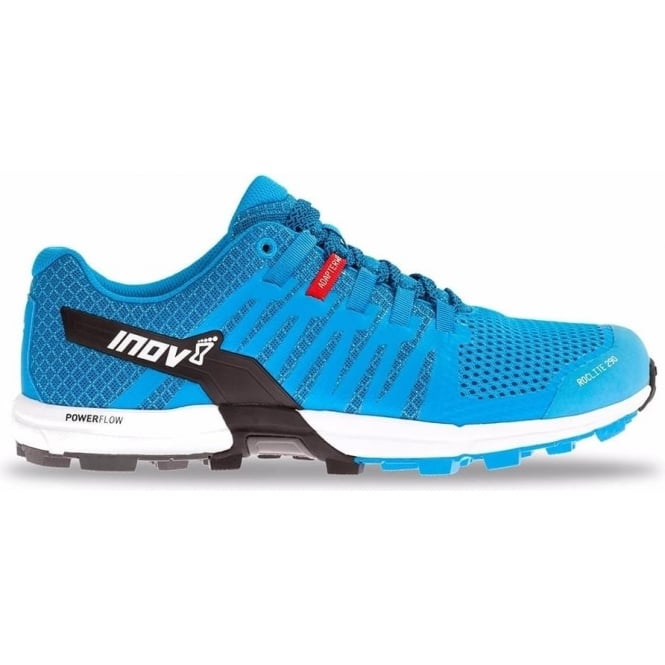 Inov8 Roclite 290 Mens STANDARD FIT Trail Running Shoes Blue/Black/White