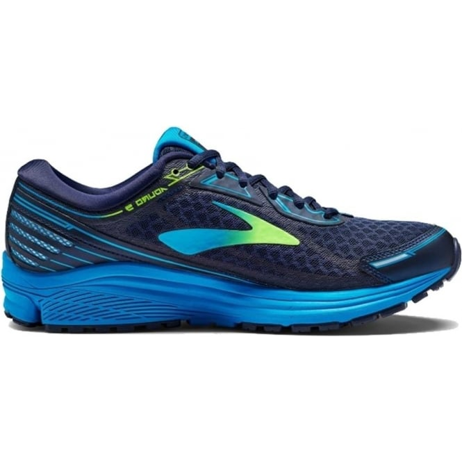 Aduro 5 Mens D (STANDARD WIDTH) Road Running Shoes Navy/Green/Blue
