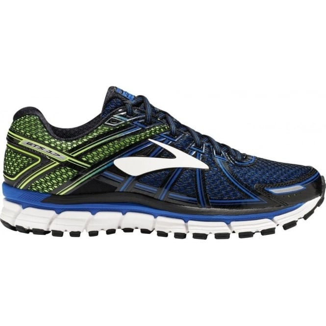 Brooks Adrenaline GTS 17 Mens D (STANDARD WIDTH) Road Running Shoes LapisBlue/Black/GreenGecko