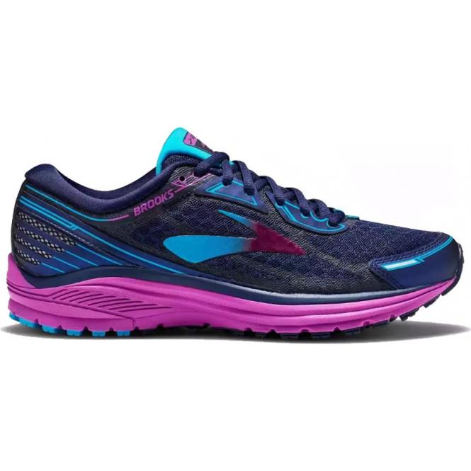 Aduro 5 Womens B (STANDARD WIDTH) Road Running Shoes Evening Blue/Purple Cactus Flower/Teal Victory