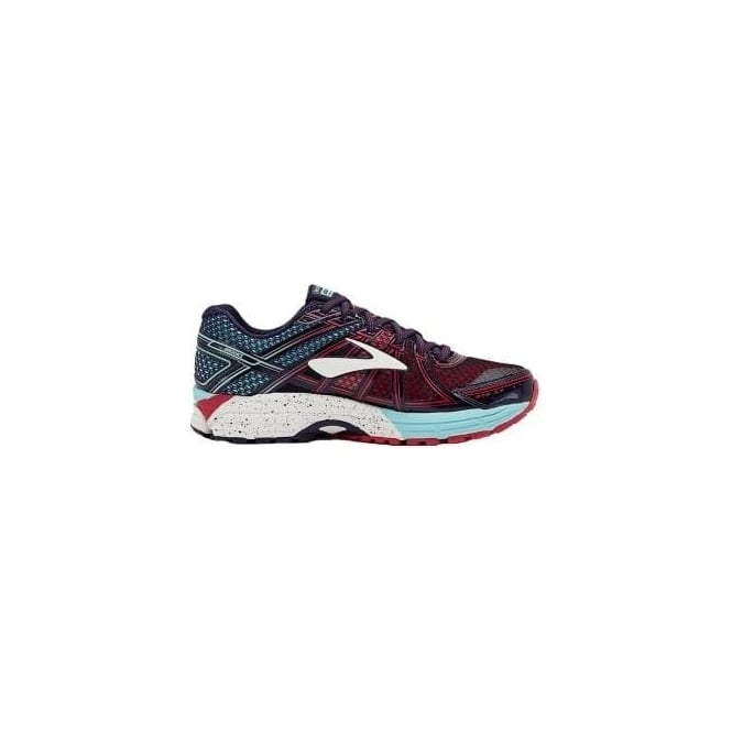 Brooks Adrenaline GTS 17 Womens B (STANDARD WIDTH) Road Running Shoes Limpet Shell/Evening Blue/Virtual Pink