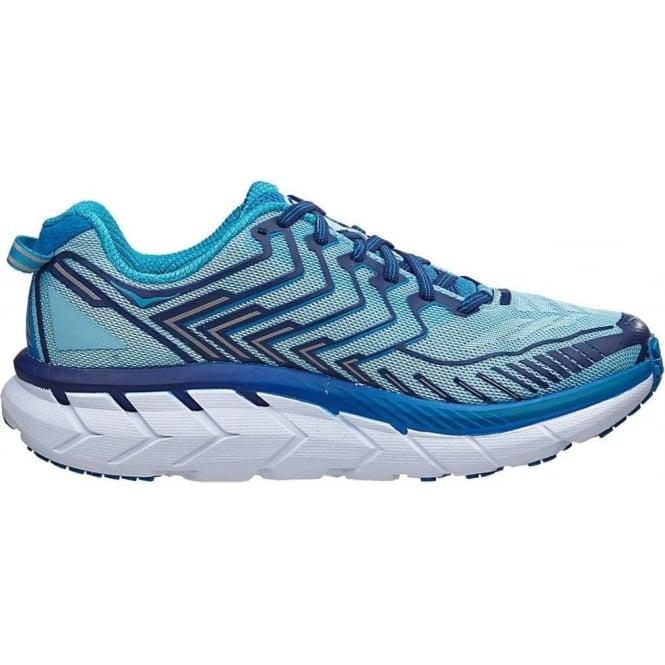 Hoka Clifton 4 Womens Road Running Shoes Blue Topaz/Imperial Blue