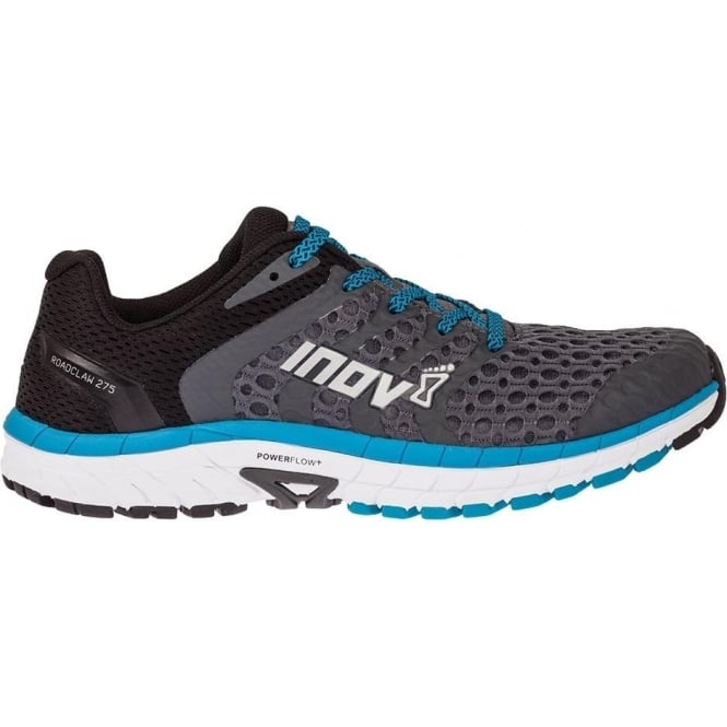 Inov8 Roadclaw 275 V2 Mens STANDARD FIT Road Running Shoes Grey/Black/Blue