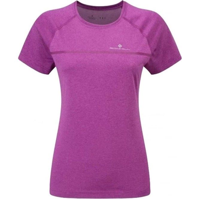 Ronhill Everyday Short Sleeve Running T-shirt Thistle Purple Marl