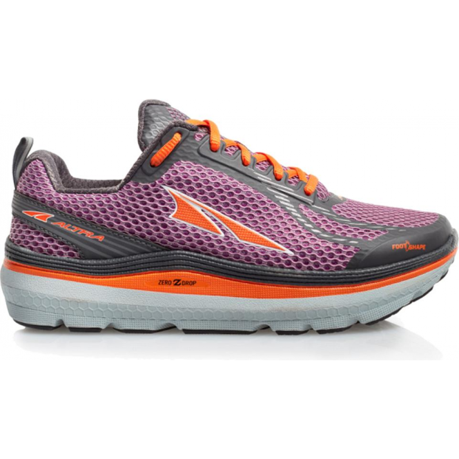 Altra Paradigm 3.0 Womens Zero Drop Road Running Shoes Purple/Orange