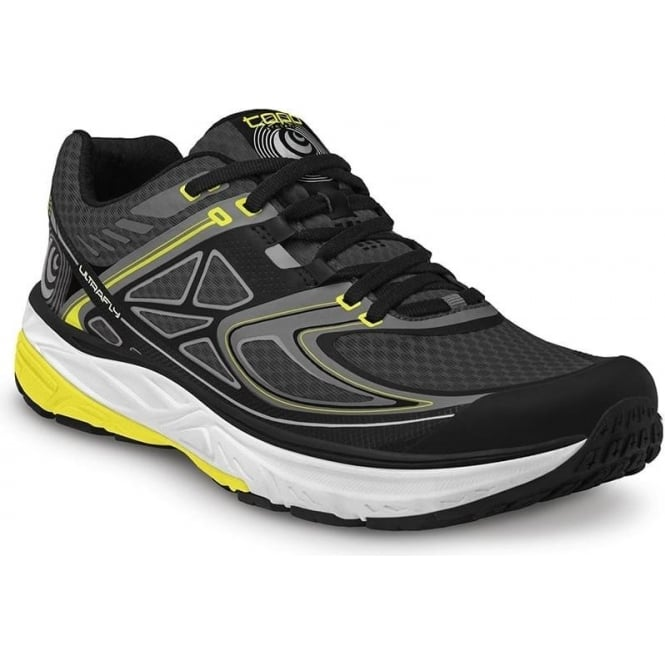 Topo Ultrafly Mens Road Running Shoes Black/Yellow