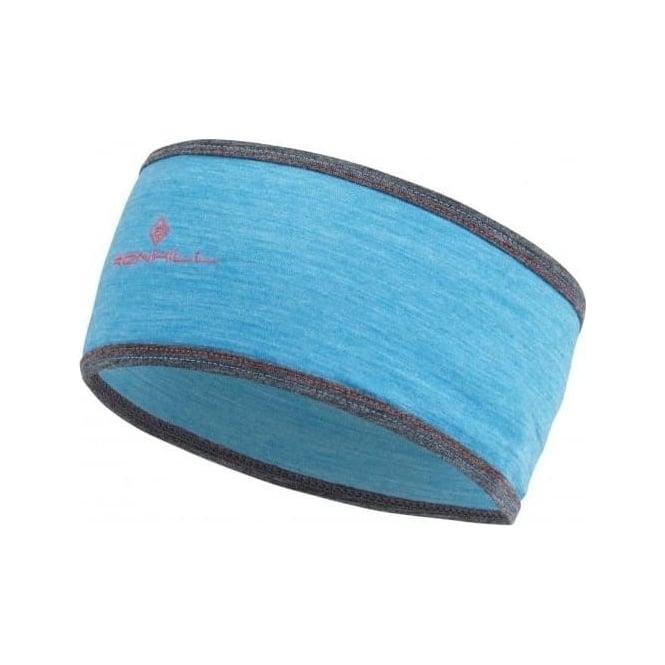 Merino Running Headband Deep Cyan Marl