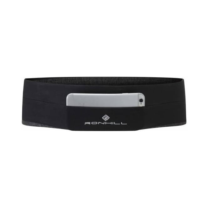 Ronhill Stretch Waist Pocket Black/Charcoal Marl