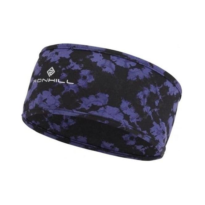 Ronhill Printed Running Headband Dark Sapphire Dye