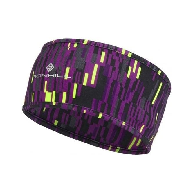 Ronhill Printed Running Headband Grape Glitch