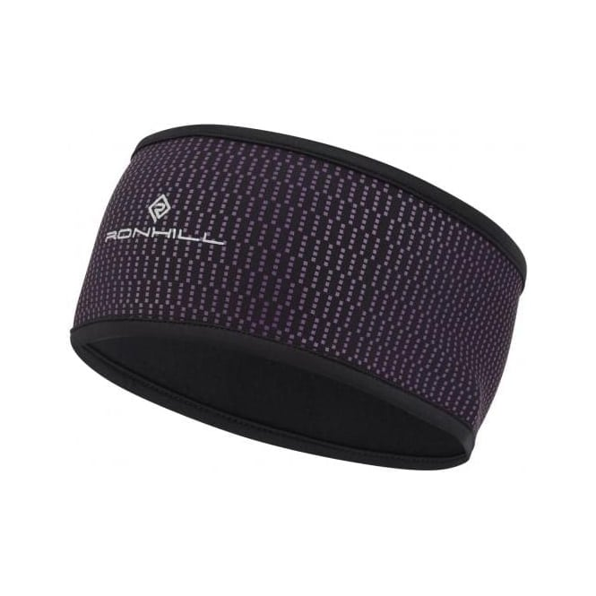 Ronhill Wind-block Headband Black/Grape Juice