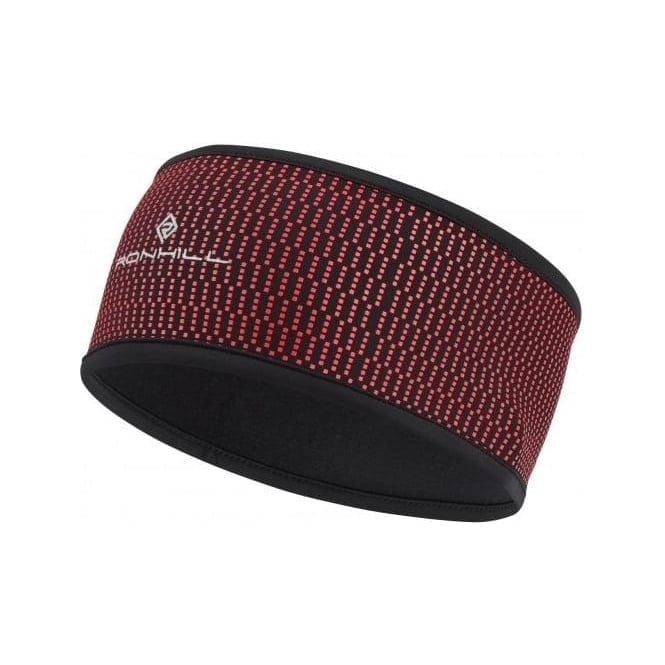 Ronhill Wind-block Headband Black/Hot Pink