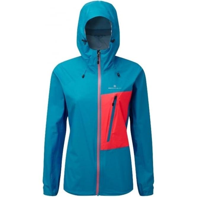 Ronhill Trail Torrent Womens Running Jacket Cyan/Hot Pink