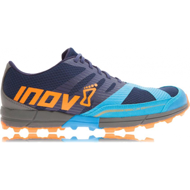 Inov8 Terraclaw 250 Mens STANDARD FIT Trail Running Shoes Navy/Blue/Orange