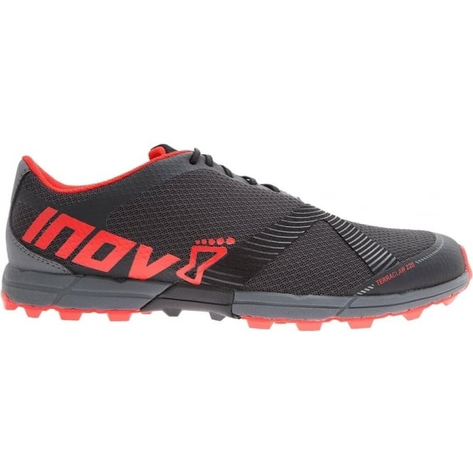 Inov8 Terraclaw 220 Mens STANDARD FIT Trail Running Shoes Black/Red/Grey