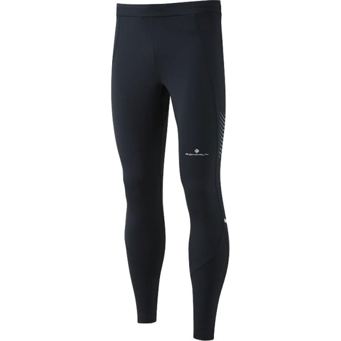Ronhill Stride Stretch Mens Running Tights All Black