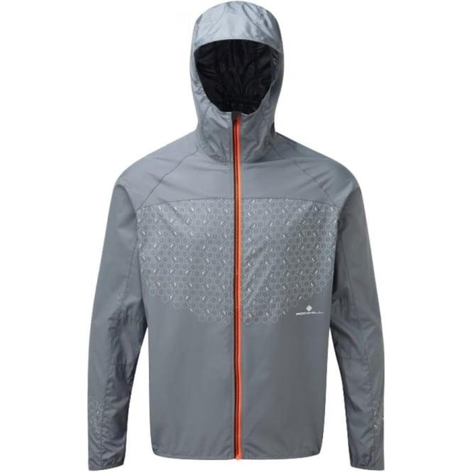 Ronhill Momentum Sirius Mens Running Jacket Granite/Fluo Orange