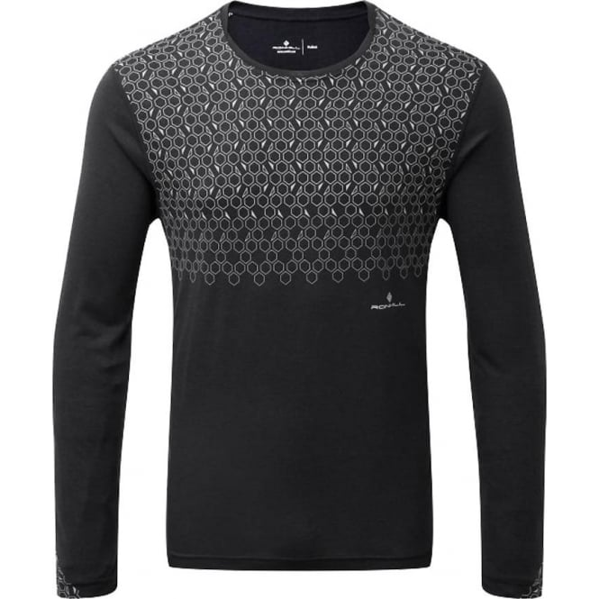 Ronhill Momentum Sirius Mens Long Sleeved Running T-shirt Black
