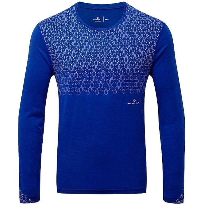 Ronhill Momentum Sirius Mens Long Sleeved Running T-shirt Cobalt Blue