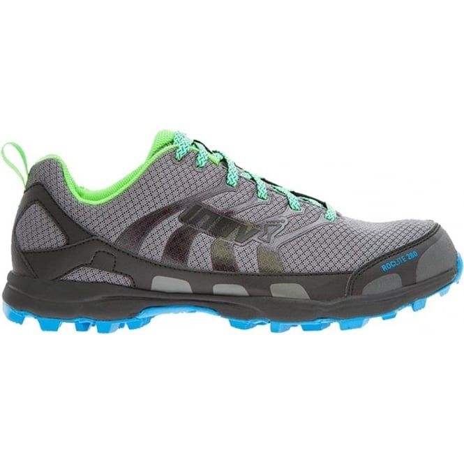 Inov8 Roclite 280 Mens STANDARD FIT Trail Running Shoes Dark Grey/Green/Blue